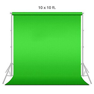1x 10 x 10 Chromakey Green Screen Muslin Background Backdrop for Photography