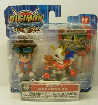 Digimon Fusion action figures 2 pack MIKEY and  SHOUTMON X4 Bandai 2013