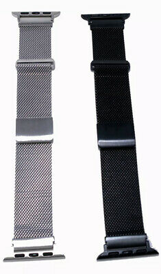LOT OF 2 Mesh Metal Bands for Apple Watch 42mm 44mm by Platinum series 6 5 4 3 2