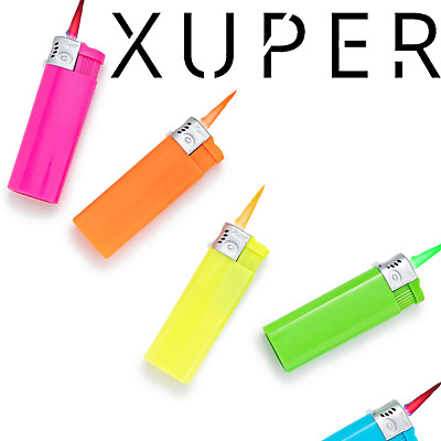 5 Pack Xuper Color  Colored Jet Flame Torch Lighters Butane Refillable