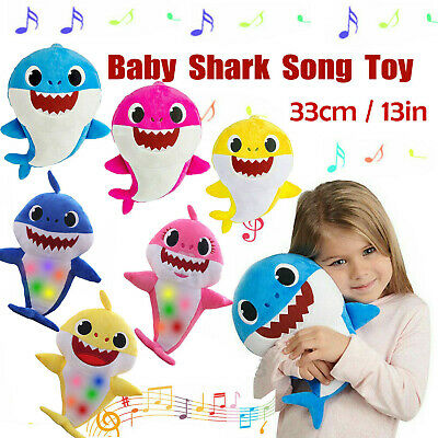 Baby Shark Plush Singing Official Music Song Toys LED Light Up Plush Kids Toy