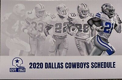 2020 DALLAS COWBOYS Schedule 🏈 Very Cool NFL Football Sked 🏈 THE BACKS !! 🏈