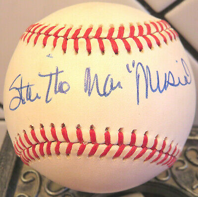 """WOW! CARDINALS STAN """"THE MAN"""" MUSIAL AUTOGRAPHED/SIGNED BASEBALL"""
