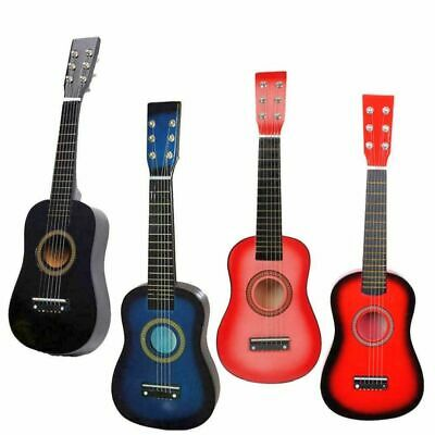 4 Colors 25 Beginners Kids Acoustic Guitar 6 String w Pick Children Kids Gift