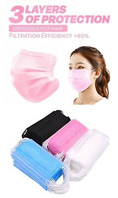 50100 PCS Face Mask Disposable Non Medical Surgical 3-Ply Earloop Mouth Cover