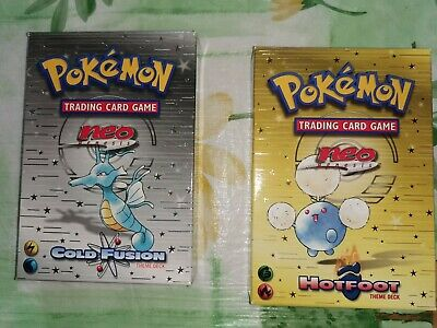 Pokemon neo genesis Hotfoot and Cold Fusion theme Deck