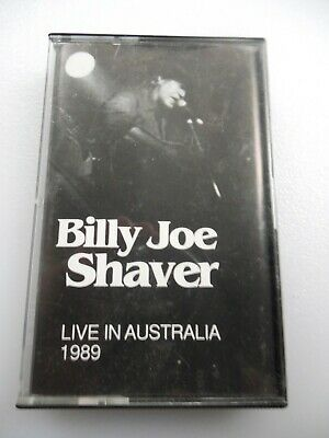 BILLY JOE SHAVER Live In Australia 1989 MISSING LINK Cassette Limited Edition