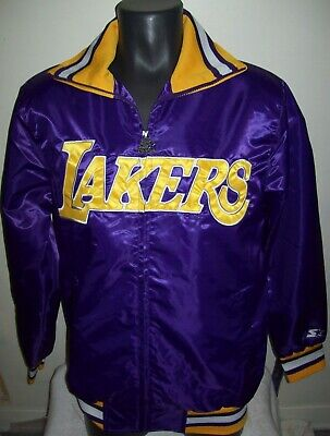 LOS ANGELES LAKERS NBA STARTER Full Zip Jacket THE CAPTAIN PURPLE YELLOW