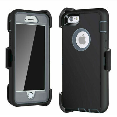 iPhone 6 7 8 Plus XS MAX XR Shockproof Case Belt Clip Fits Otterbox Defender