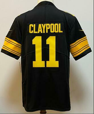 Mens Chase Claypool 11 color rush limited jersey black