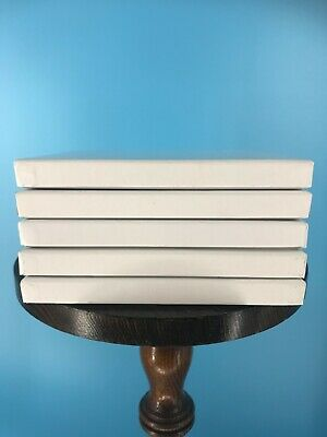 Burlington Recording Heavy Duty White Hinged Boxes for 14 x 7 Reels 5 Pack