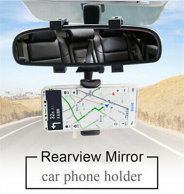 Universal Auto Car Rearview Mirror Mount Stand Holder Cradle For Phone GPS USA