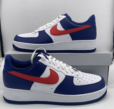 Nike Air Force 1 07 White University Red Americana CZ9164-100 Mens Shoes NEW