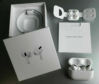 Sealed Apple AirPods Pro Air Pods Wireless Charging Case Bluetooth MWP22AMA US