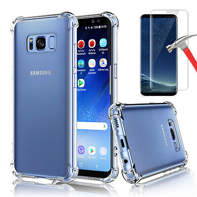 For Samsung Galaxy S8  S8 Plus Clear Case Bumper TPU Cover - Screen Protector