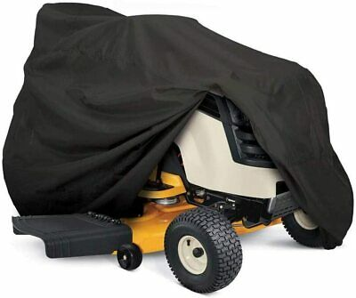 Heavy Duty Outdoor Lawn Mower Tractor Cover 55in Long wDrawstring - Storage Bag