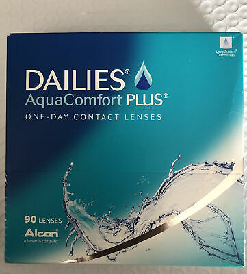 Dailies Aqua Comfort Plus 90 Contacts- PWR-1-00Sealed New in Box Exp 2024