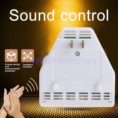 Convenient Sound activated Clap OnOff Light Switch Wall Socket Outlet Adapter
