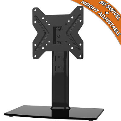 Swivel Universal Table Top TV Stand Height Adjustable for 19 inch - 39 inch TV