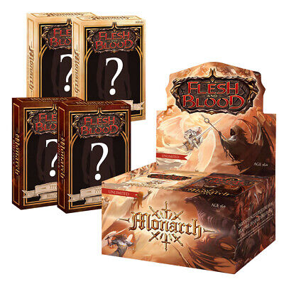 PRE-SALE Flesh and Blood Monarch Unlimited Bundle 1 Booster Box - 4 Blitz Deck