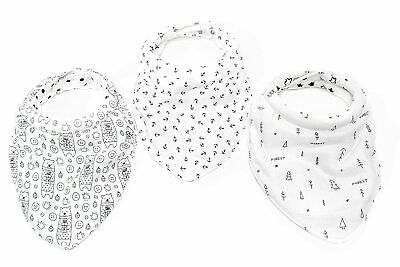 Premium Quality Baby Bibs 3 Pack  Unique Comfy Padded Collar and 5-Layers