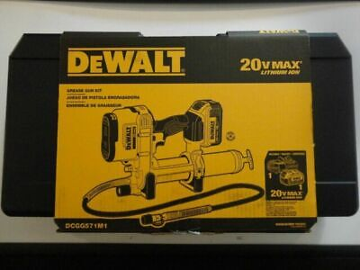 Dewalt DCGG571M1 20V MAX Cordless Grease Gun With Battery - Charger New USA