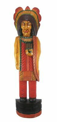 Huge Sale 3 FT WOODEN INDIAN CIGAR STORE CHIEF COWBOY STATUE NATIVE AMERICAN