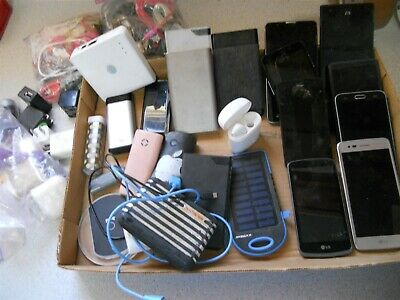 mix a lot iPhones storage units  adapters cables