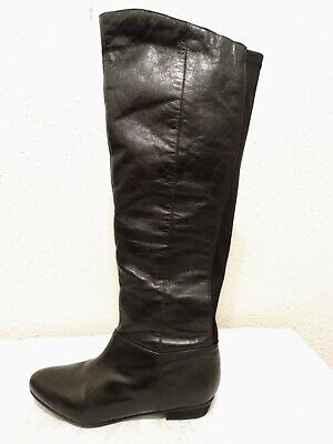 Womens Steve Madden Black Leather Above Knee Boots Lined Pull Up size 8-5