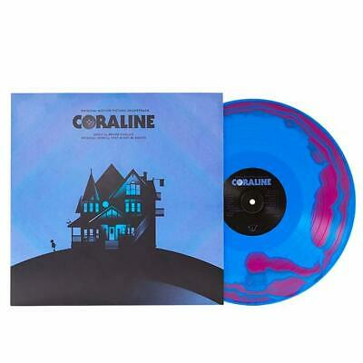 Coraline Soundtrack Bruno Coulais Purple and Blue Swirl Double Vinyl Record NEW