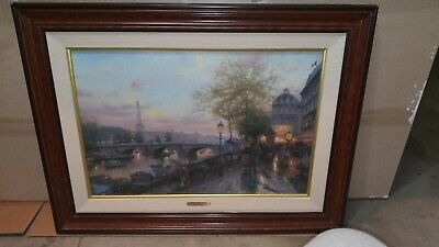 Thomas Kinkade Paris Eiffel Tower City Of Lights II