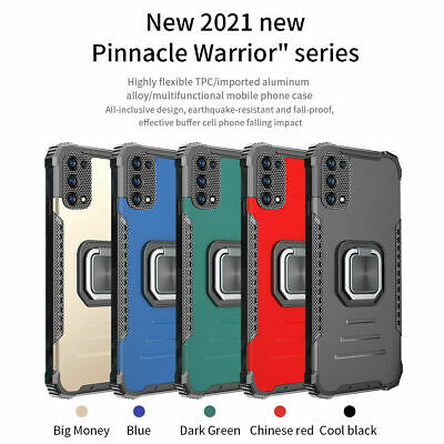 For Realme 7  7 Pro Shockproof Magnetic Rugged Ring Kickstand Armor Case Cover