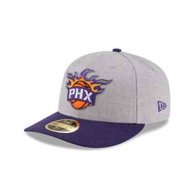 Phoenix Suns NBA New Era Authentic Low Crown 59FIFTY Fitted Hat-GrayPurple