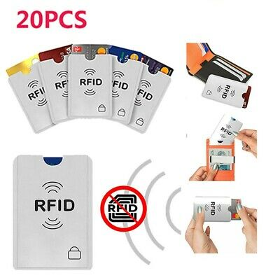20-Packs Anti Theft Credit Card Protector RFID Blocking Safety Sleeve Shield