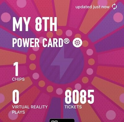 Dave and Busters Power Card With 8085  And 1 Chip