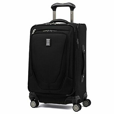 Crew 11-Softside Expandable Luggage with Spinner Wheels Carry-On 21-Inch Black