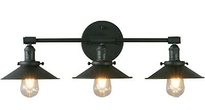 Phansthy Vanity Lights 3 Lights Wall Sconce with 7-87 Inches Metal Lamp Shade-