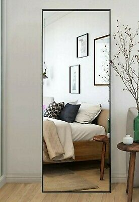 Oversized Black Metal Beveled Glass Morror Classic Mirror 64-17 in- H X-