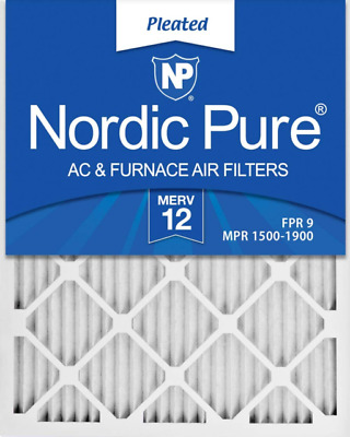 Nordic Pure 16x20x4 MERV 12 Pleated AC Furnace Air Filters 2 Pack