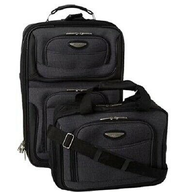 Travel Select Amsterdam Expandable Rolling Upright Luggage 2-Piece Set