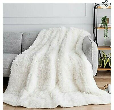 Uttermara Shaggy Faux Fur Weighted Blanket 15lbs Super Soft Plush Fleece and-