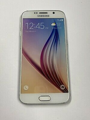 Non-Functioning White Samsung Galaxy S6 Smartphone toy mock dummy phone