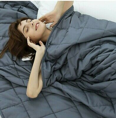 Weighted Idea Adult Weighted Blanket 15 lbs Queen Size 60x80 Grey