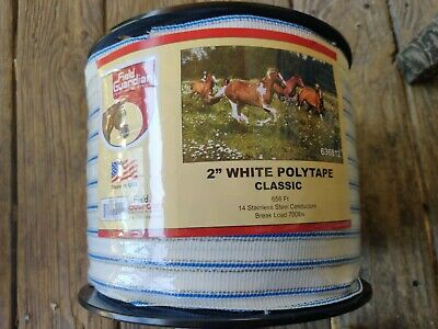 Field 2 White Polytape Classic for electric fence