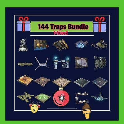 Traps Bundle mixed  144 God Rolled Traps- Fortnite Save The World Traps