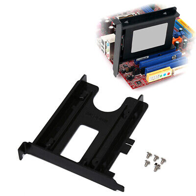 PCI Slot 2-5inch HDD SSD Rear Panel Mount Bracket Hard Drive Adapter Tray Ca HH