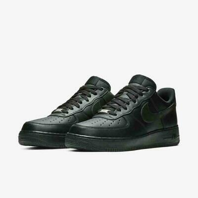 Nike Mens Air Force 1 Low 07 Triple Black Casual Shoes BRAND NEW Size 7-5-11