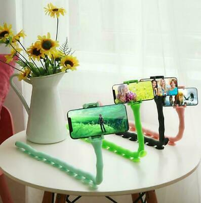 Caterpillar Lazy Bracket Mobile Phone  Holder Worm Flexible Suction Cup Stand US