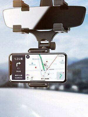 Universal Car Rear view Mirror Mount Holder Stand Cradle For Cell Phone GPS 360°