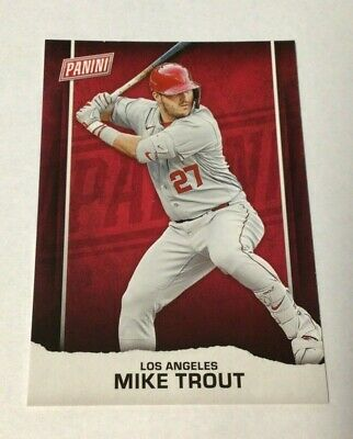 2021 Panini Fathers Fathers Day MIKE TROUT Los Angeles Dodgers BB1